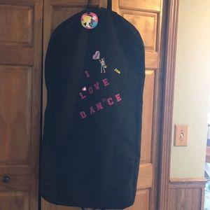 "Black ""DANCE"" Garment Bag"